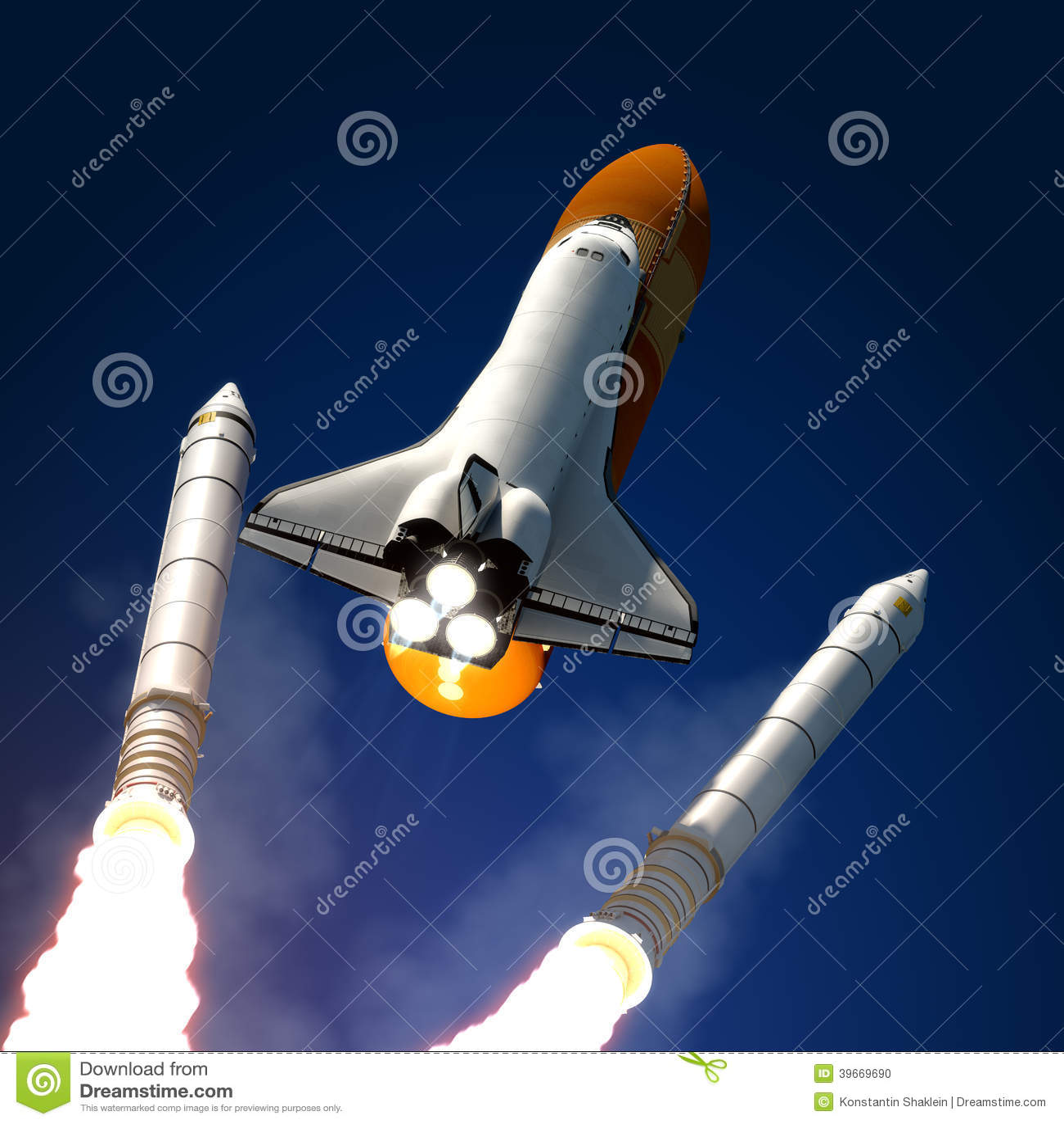 Space Shuttle Solid Rocket Buster Detached.