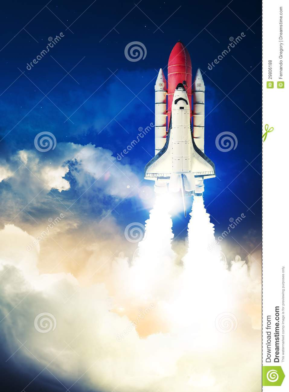 Space Shuttle Stock Photo Image Of Light Adventure