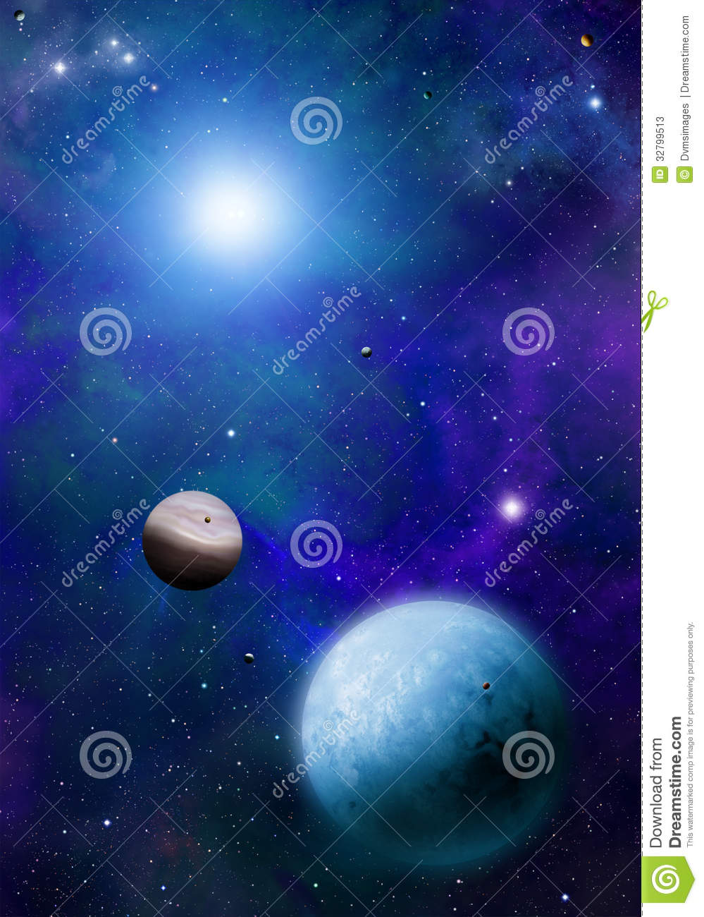 Stars And Planets Stock Photos - Image: 32799513
