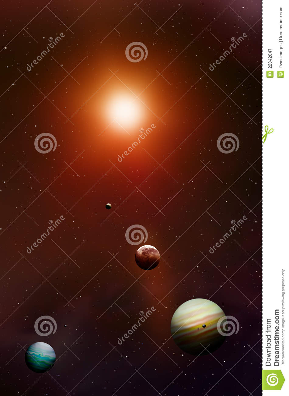Space Stars and Planets