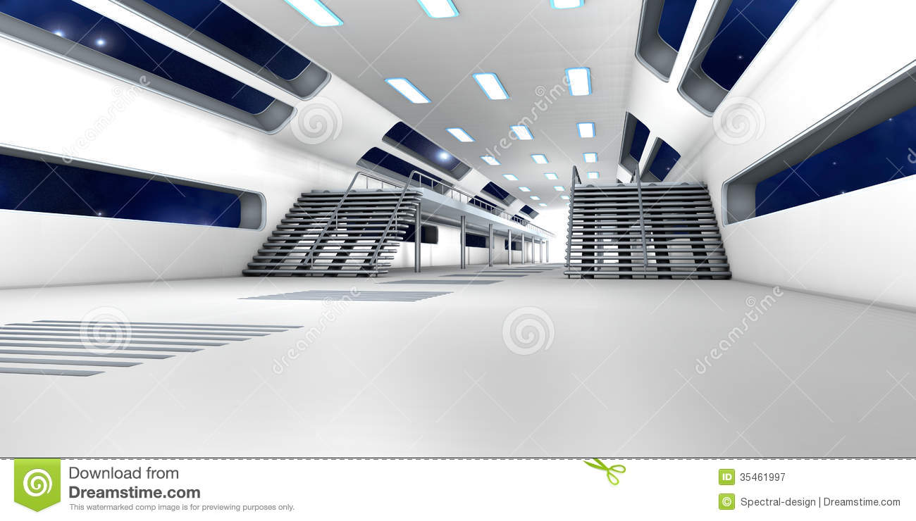 Space station interior royalty free stock photography for Interior space