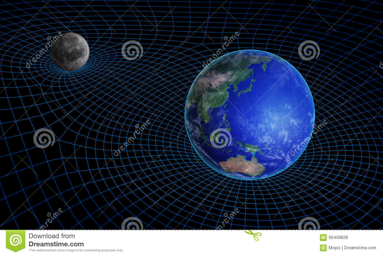 Space time continuum curvature stock illustration image for Space time curvature