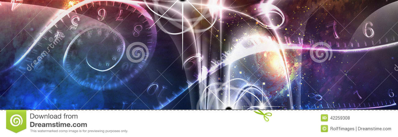 Space time illustration stock illustration image 42259308 for Space and time fabric