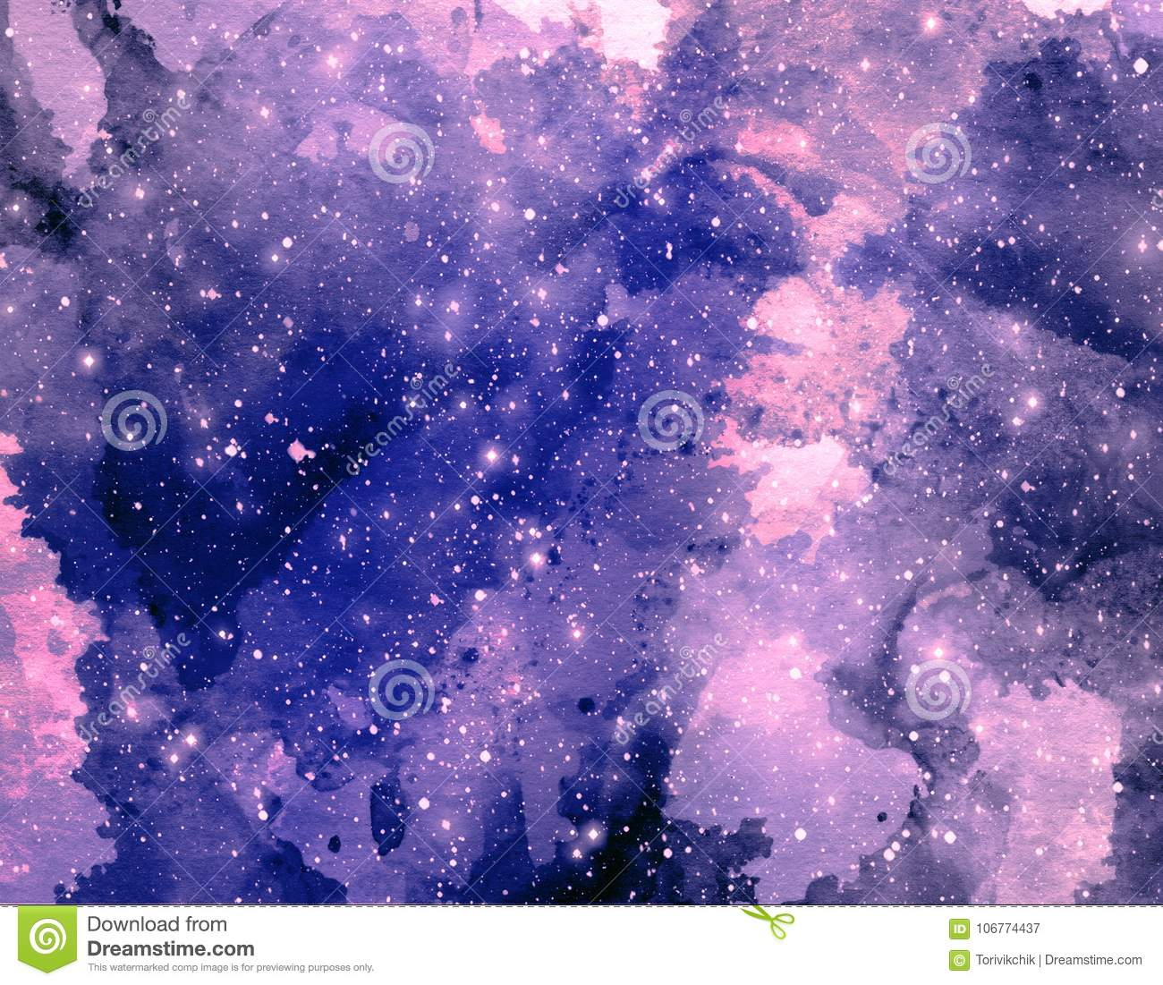 space watercolor background abstract galaxy painting cosmic
