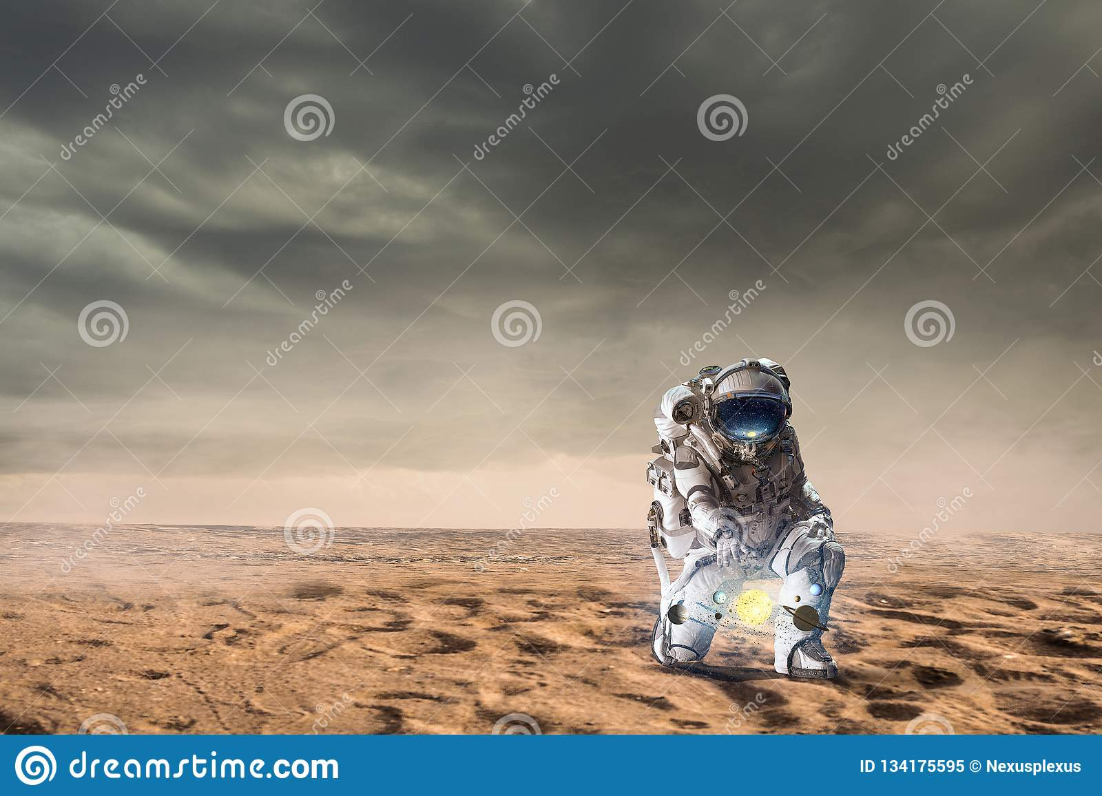 There Is Life On Other Planets. Mixed Media Stock Image ...