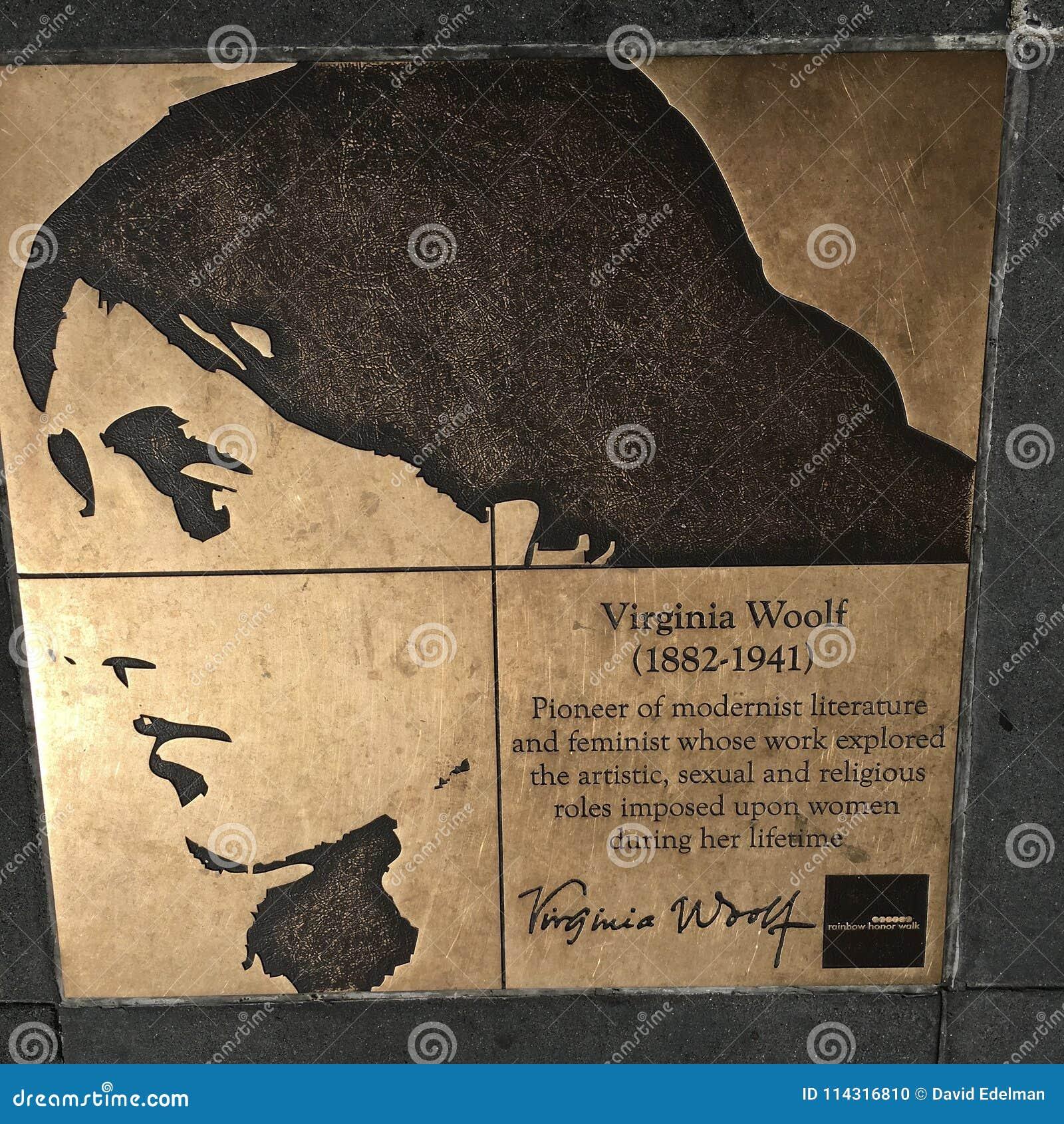 Spacer homoseksualista tęcza honoru spacer, Virginia Woolf