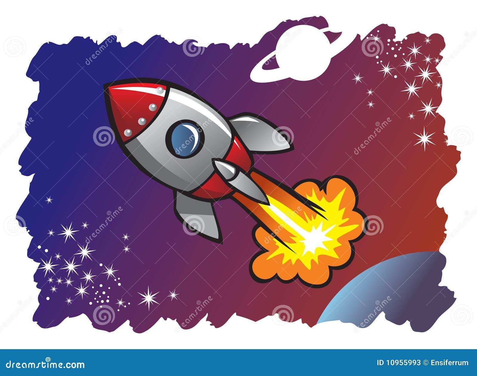 Spaceship Blasting Off...