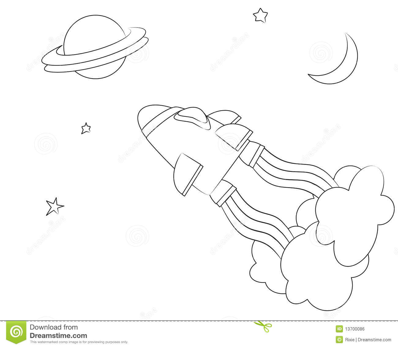 spaceship colouring page royalty free stock image image 13700086