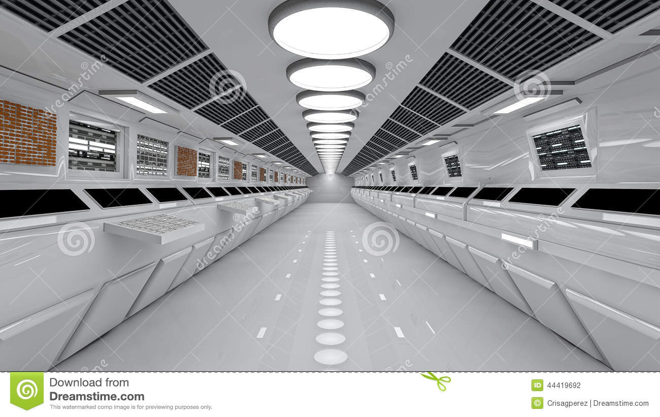 Free Floor Plan Download Spaceship Interior Center View With Floor Stock