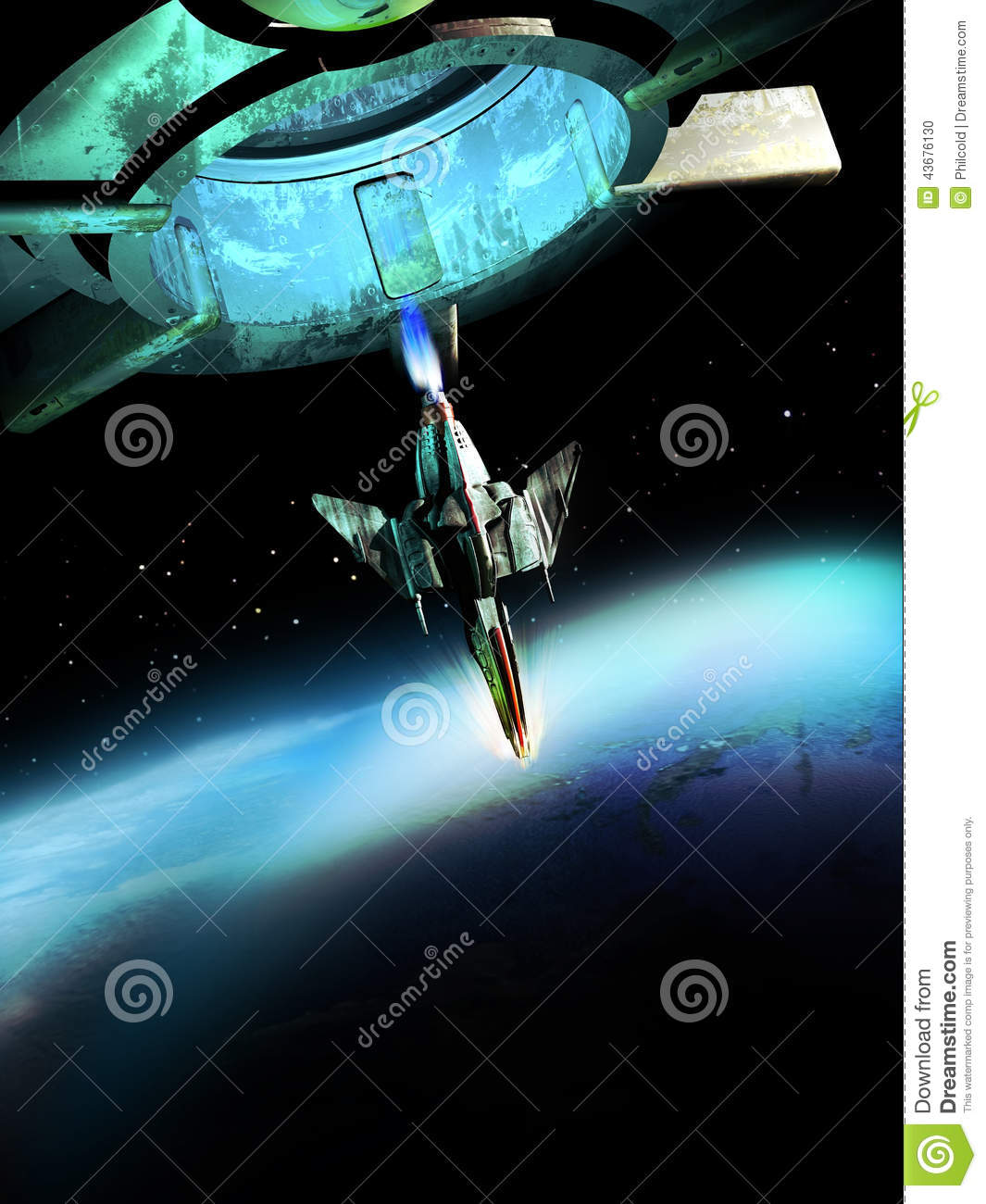 Spaceship and planet stock illustration image 43676130 for 11975 sunshine terrace