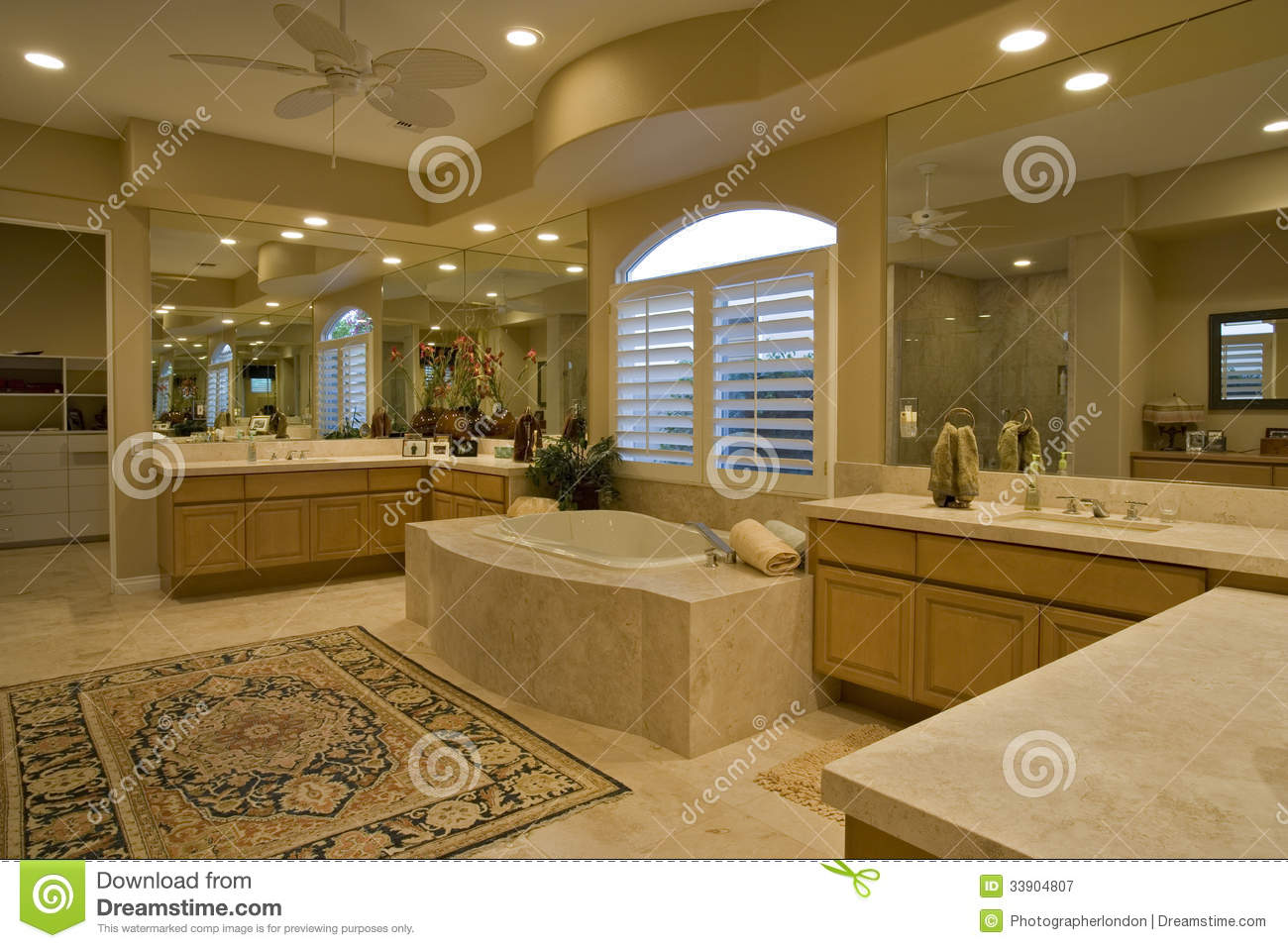 Spacious Bathroom In House