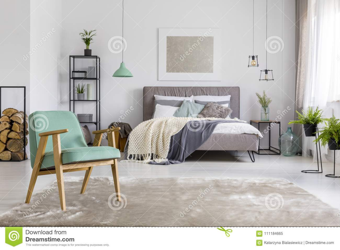 spacious bedroom armchair white spacious bedroom interior mint armchair standing rug double bed