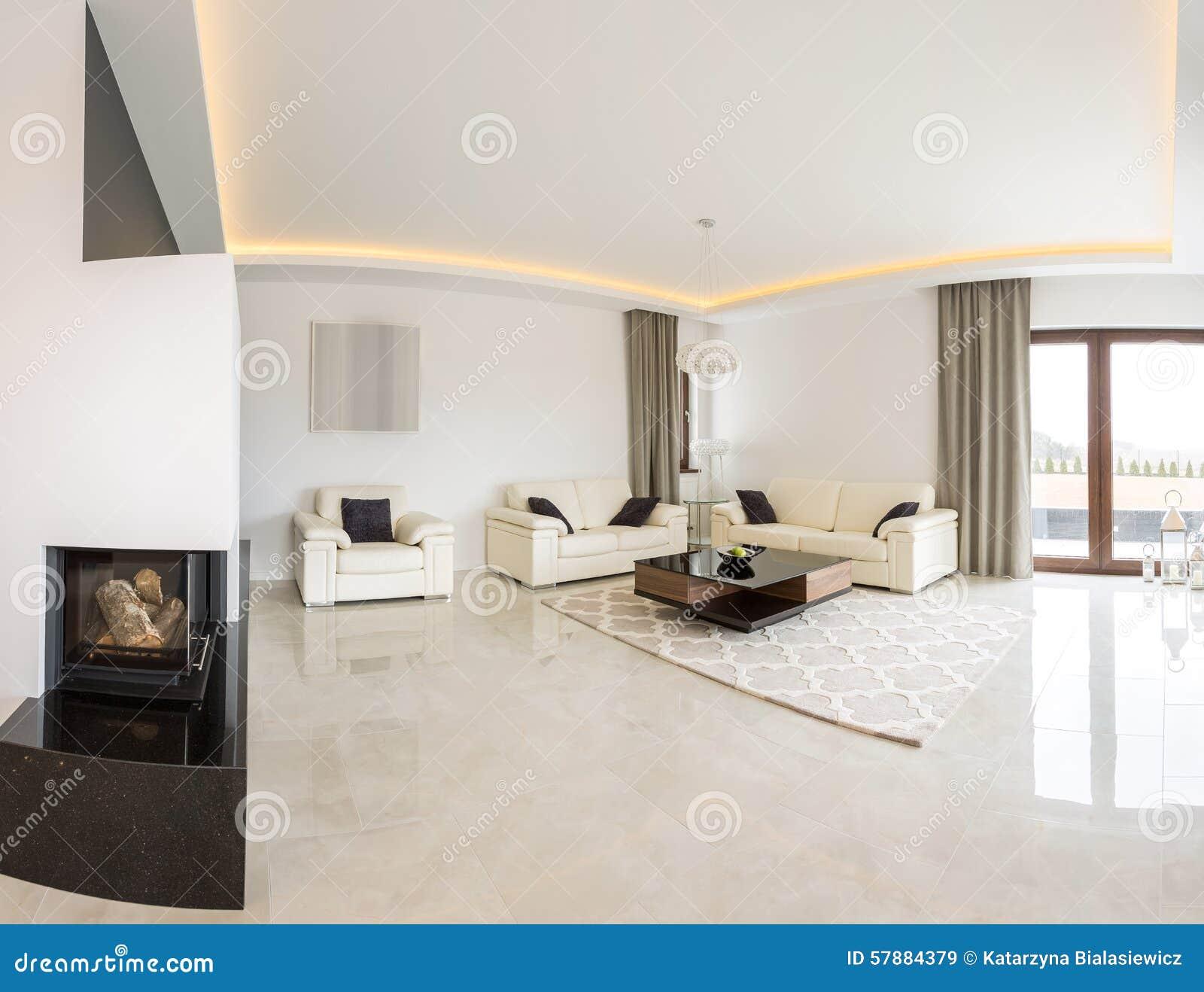 Verschiedene Heller Boden Beste Wahl Bright Living Room With Fireplace And Marble
