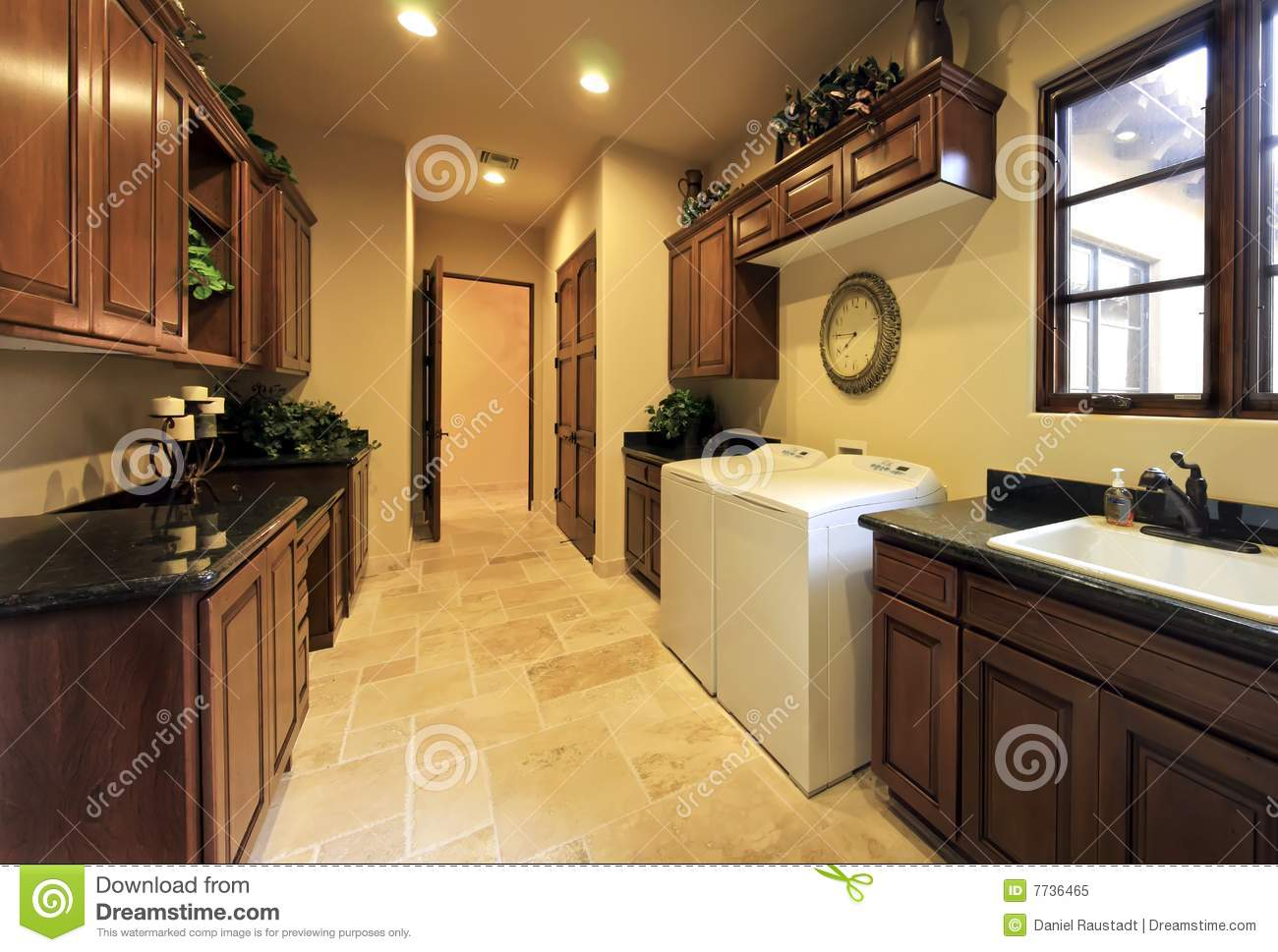 Spacious Home Laundry Utility Room Royalty Free Stock