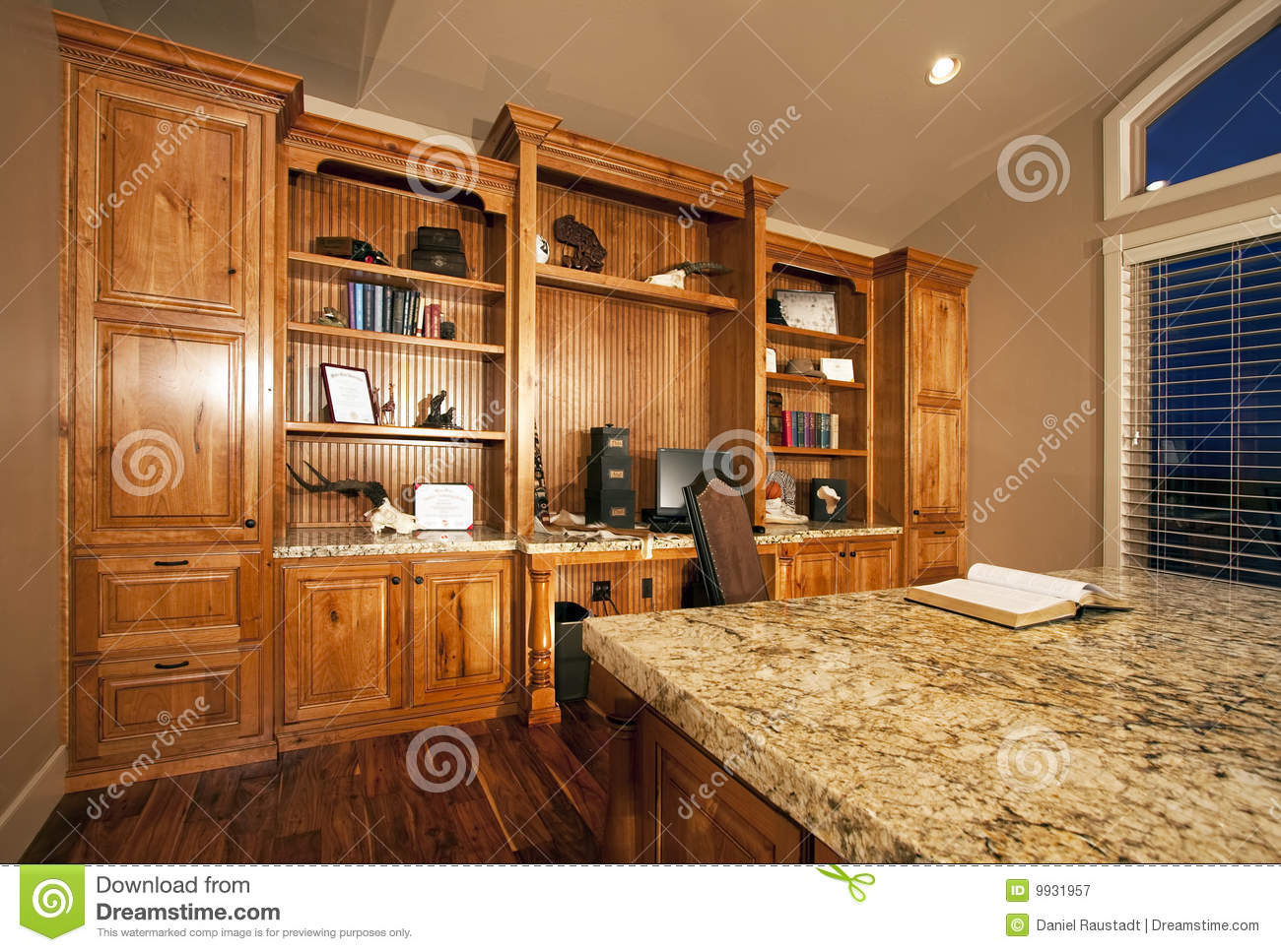 Kitchen cabinet clipart - Spacious Home Office Cabinets Royalty Free Stock