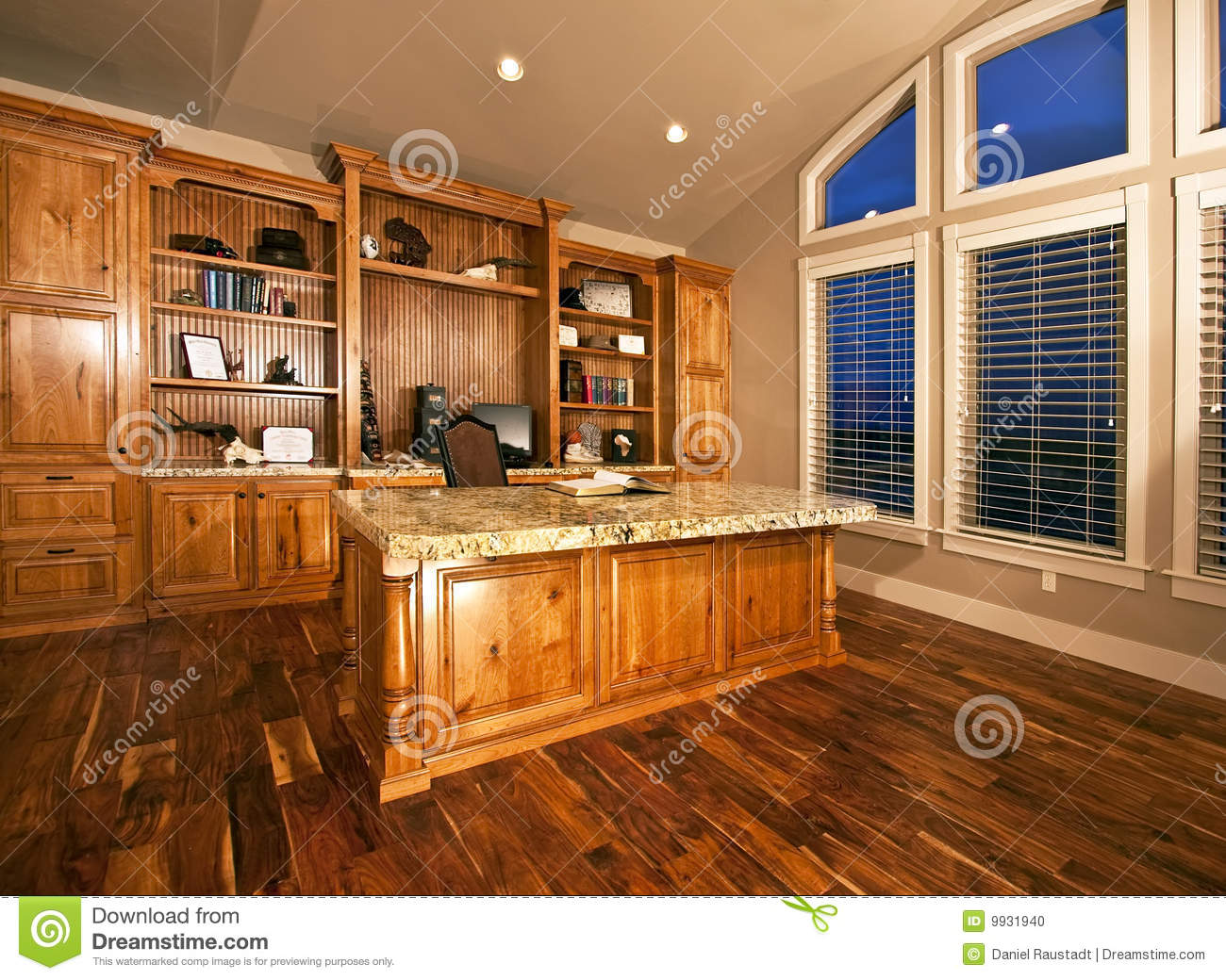 beautiful home office home spacious home office with wood floors stock photo beautiful home office home
