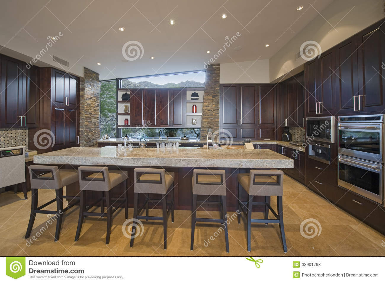 Kitchen Island With Room For Stools