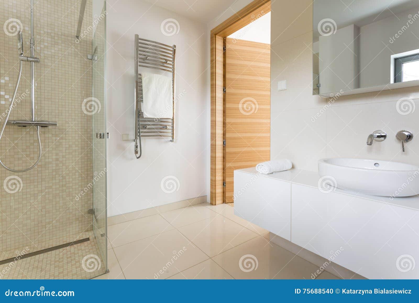 Level Out Bathroom Floor : Spacious modern bathroom stock photo image