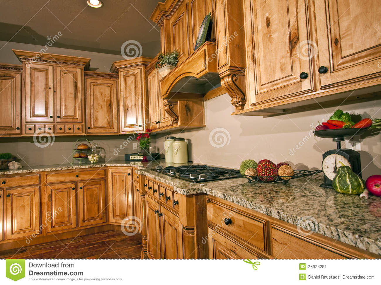 Spacious modern luxury kitchen cabinetry stock image image 26928281 - Modern luxury kitchen with granite countertop ...