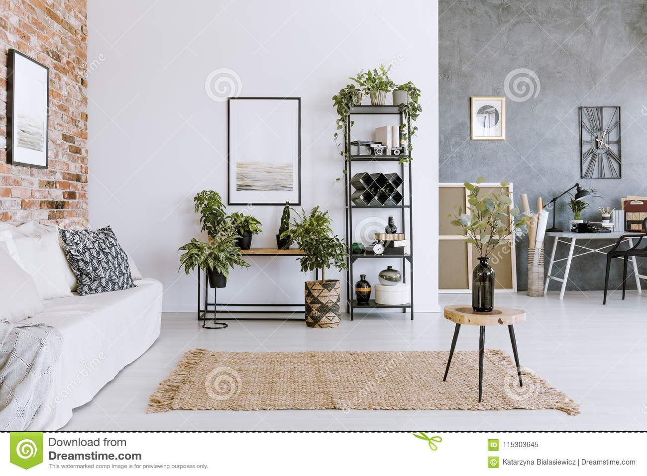 Stupendous Spacious Natural Living Room Interior Stock Image Image Of Ncnpc Chair Design For Home Ncnpcorg