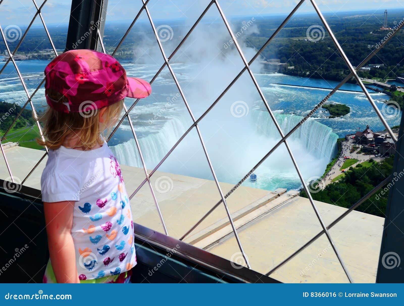 Spadać Niagara turysty widok