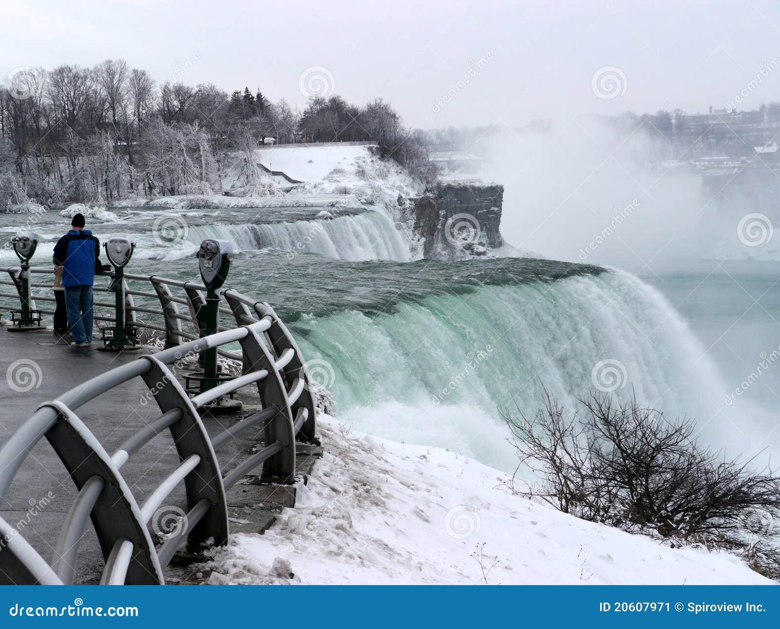 Spadać Niagara zima