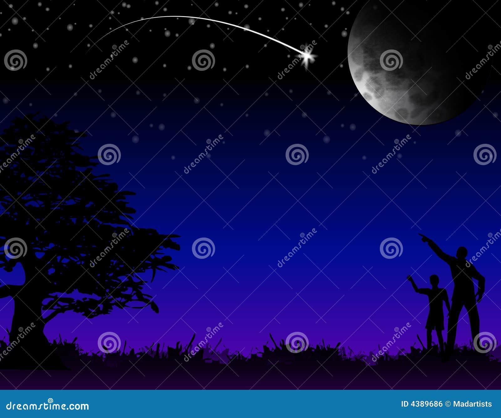 Spadające gwiazdy życzenie