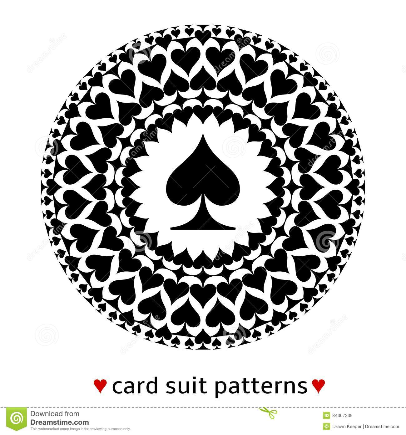 Spade Card Suit Pattern Royalty Free Stock Images Image