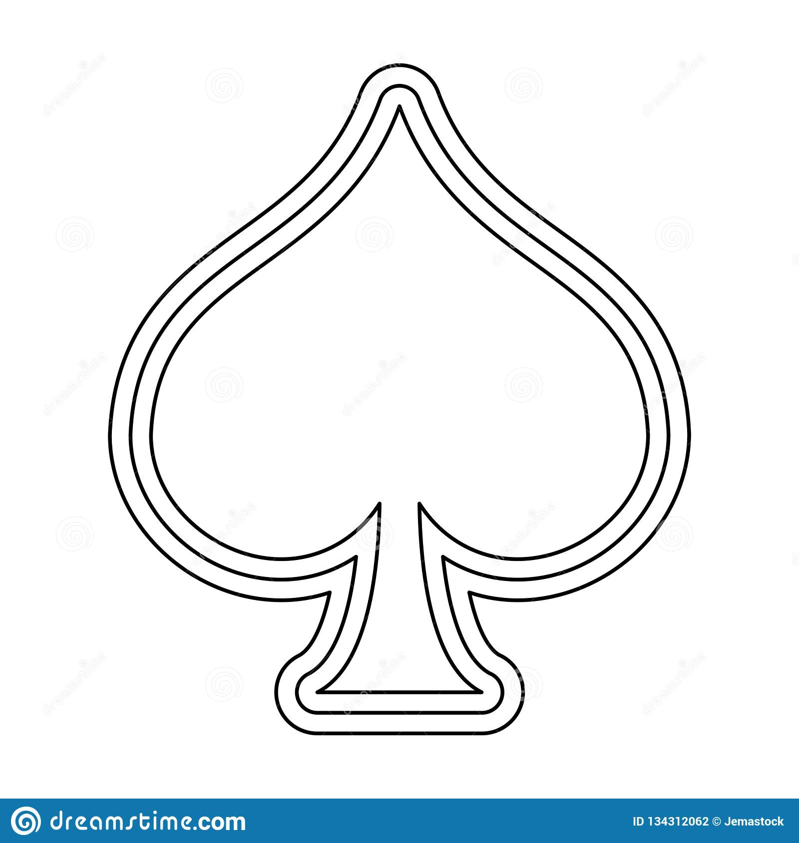 spade card white  Spade Card Symbol In Black And White Stock Vector ...