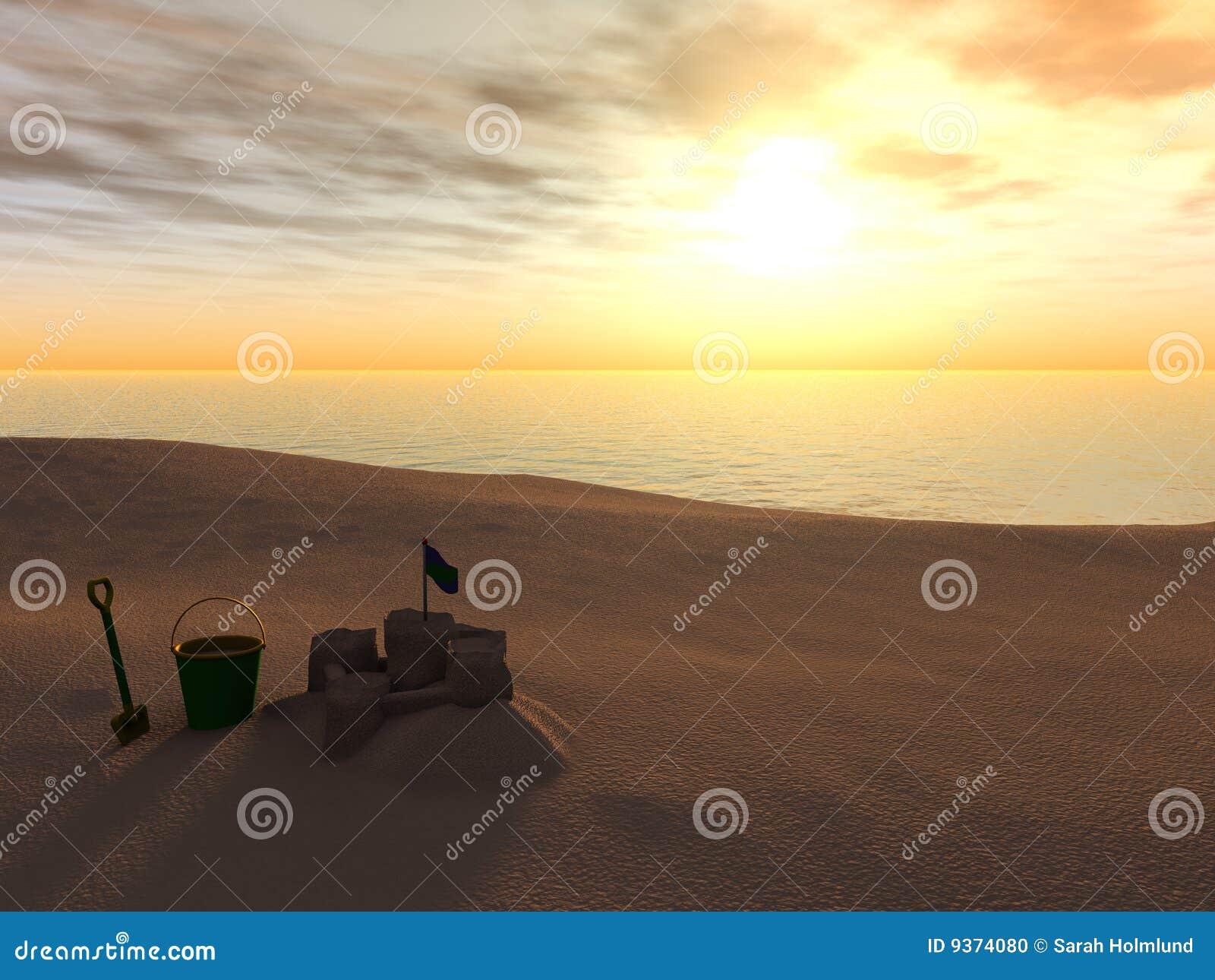 Spade för sand för strandhinkslott