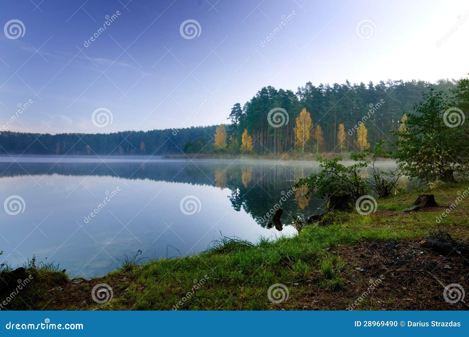 Spadek i jezioro