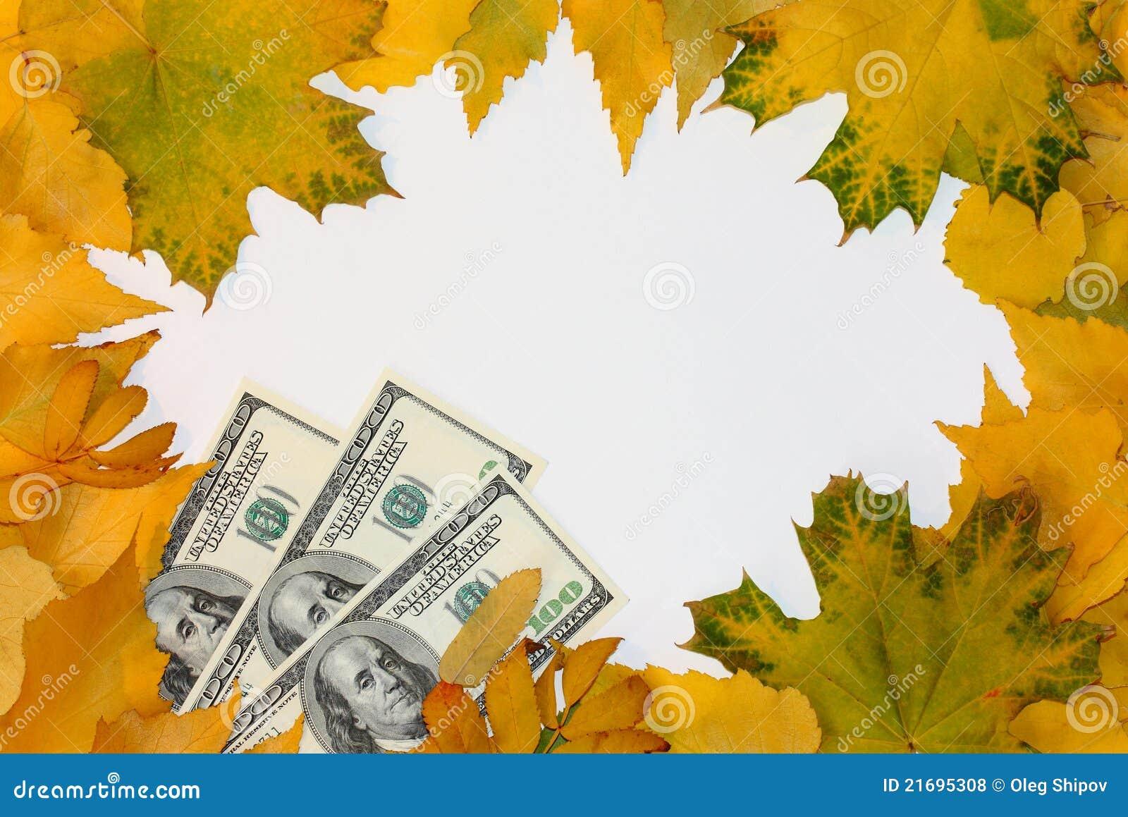 Spadek leafs pieniądze