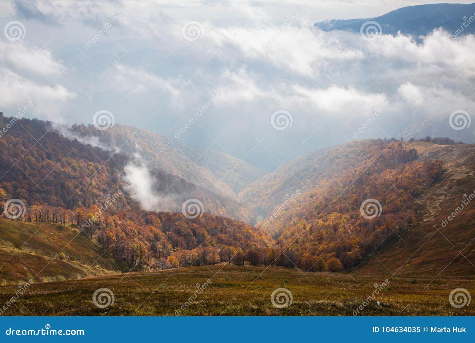 Spadek w Karpackich górach