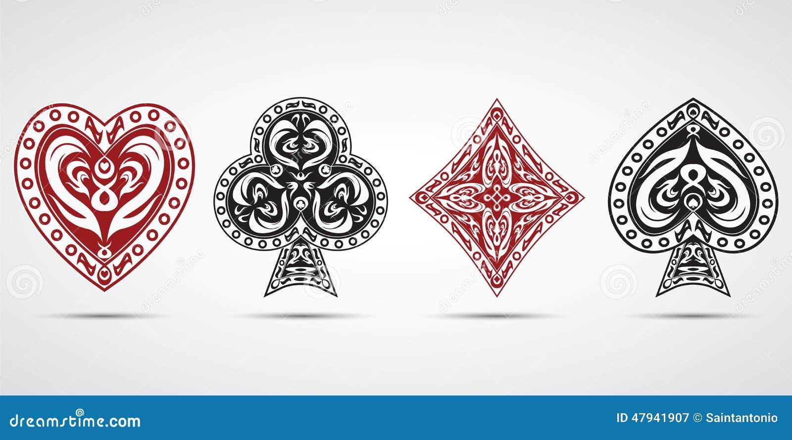 Spades hearts diamonds clubs poker cards symbols grey background spades hearts diamonds clubs poker cards symbols grey background biocorpaavc Choice Image