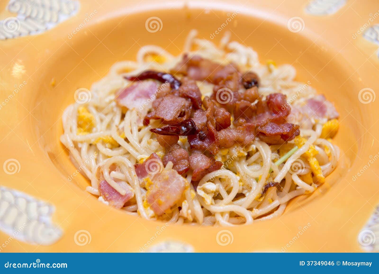 Spagetticarbonara med bacon
