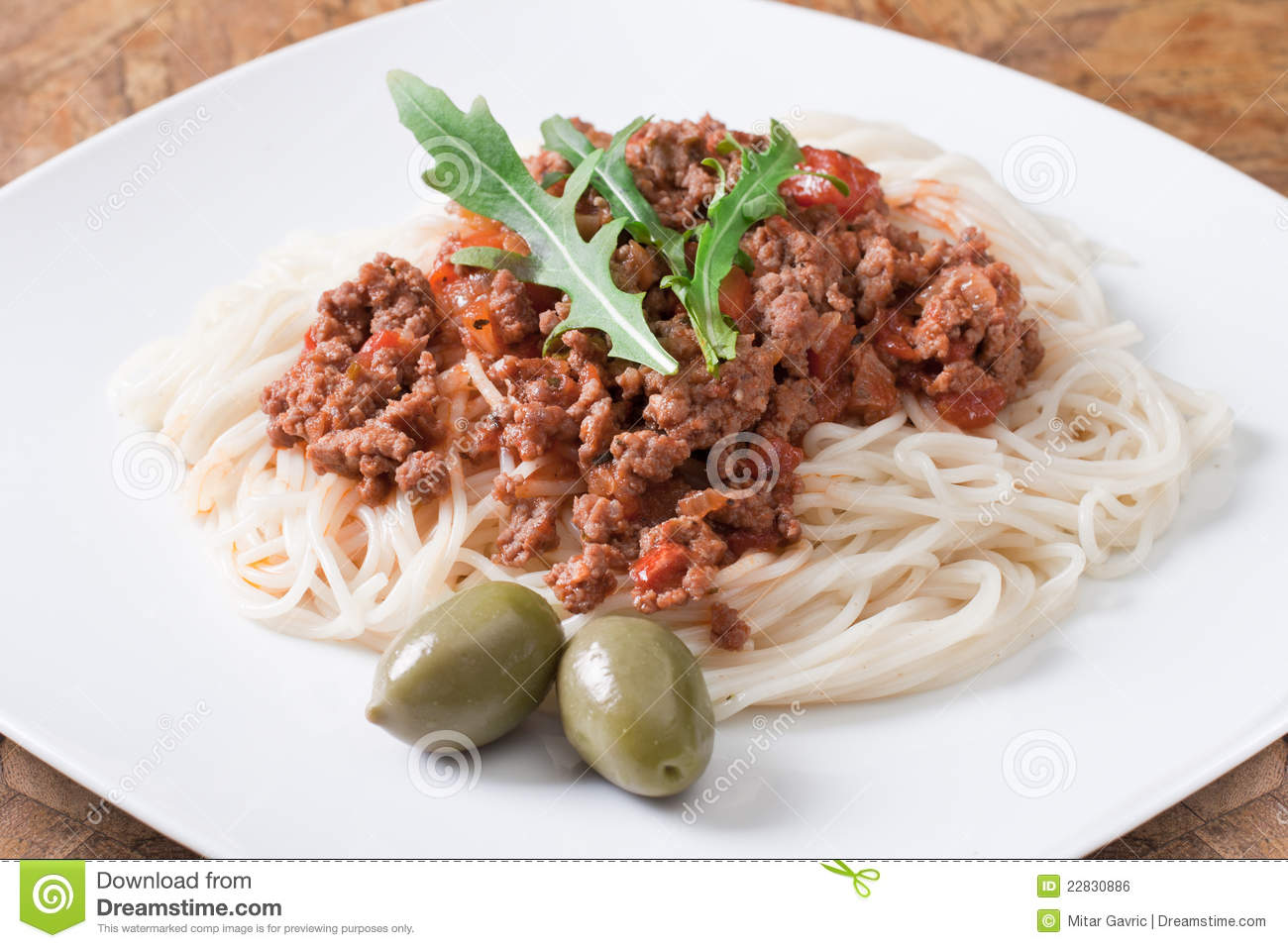 Spaghetti Alla Bolognese Royalty Free Stock Image - Image: 22830886
