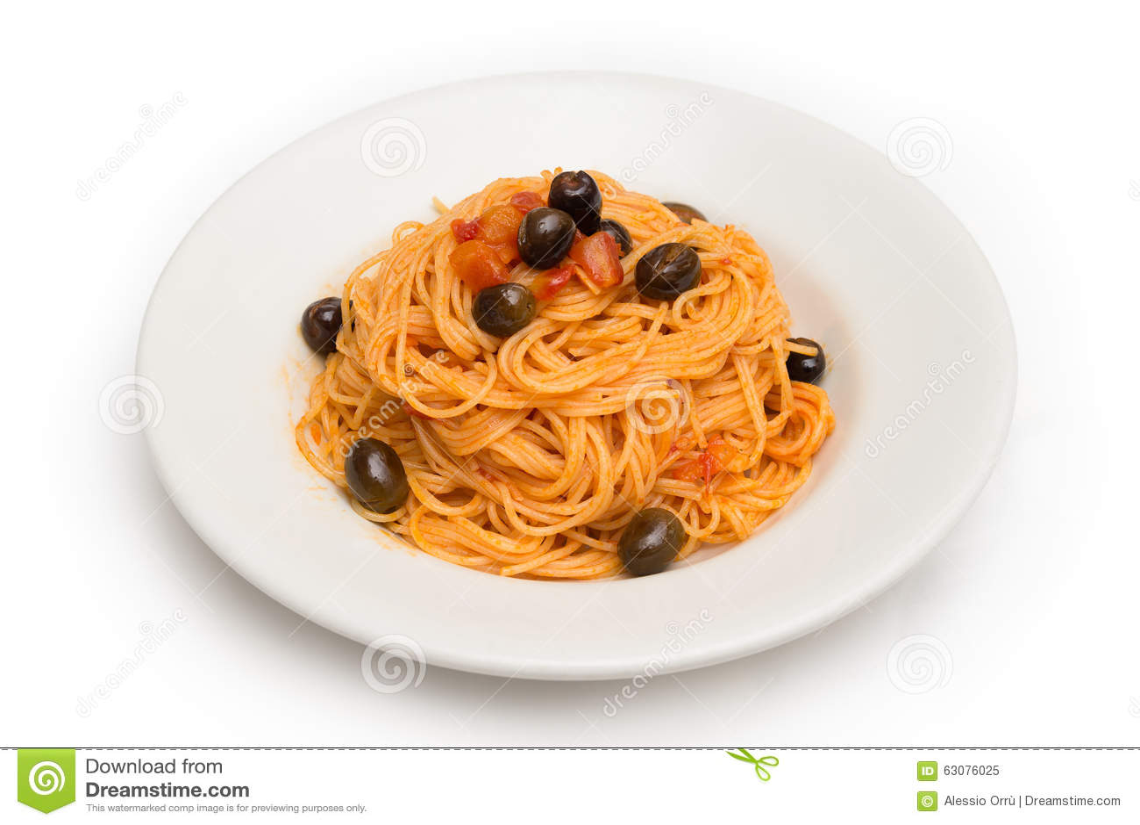 Download Spaghetti Avec De La Sauce à Agropiccante Image stock - Image du assiette, tomate: 63076025
