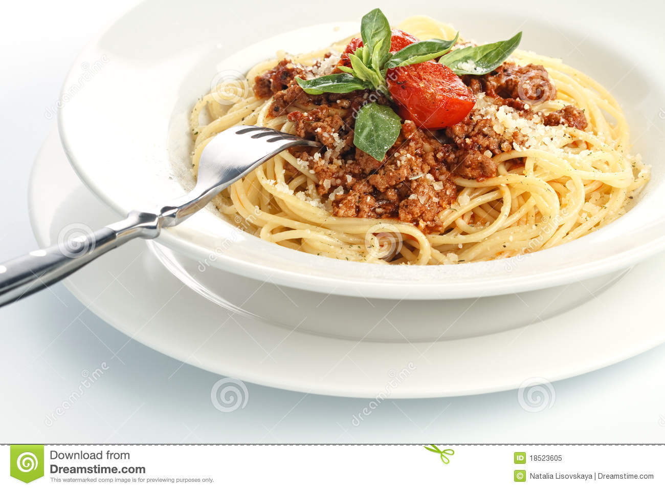 Royalty free stock photo spaghetti bolognese