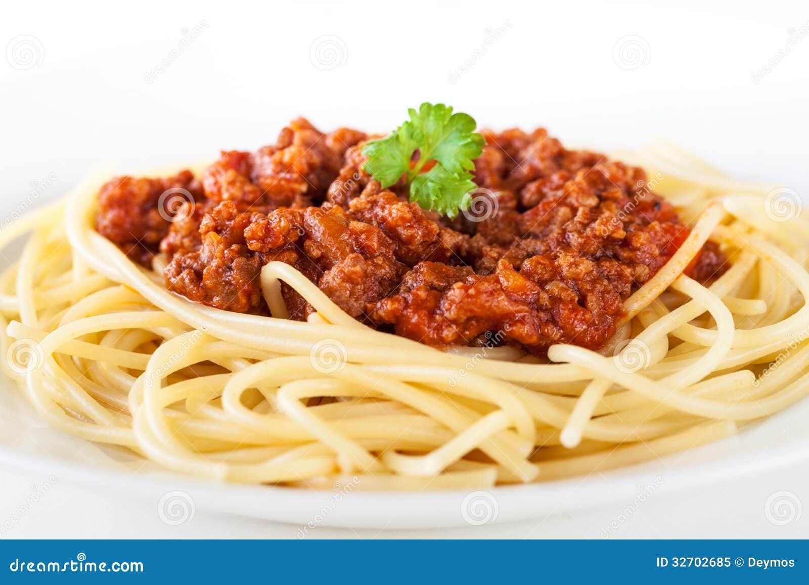 Spaghetti Bolognese Royalty Free Stock Photo Image 32702685