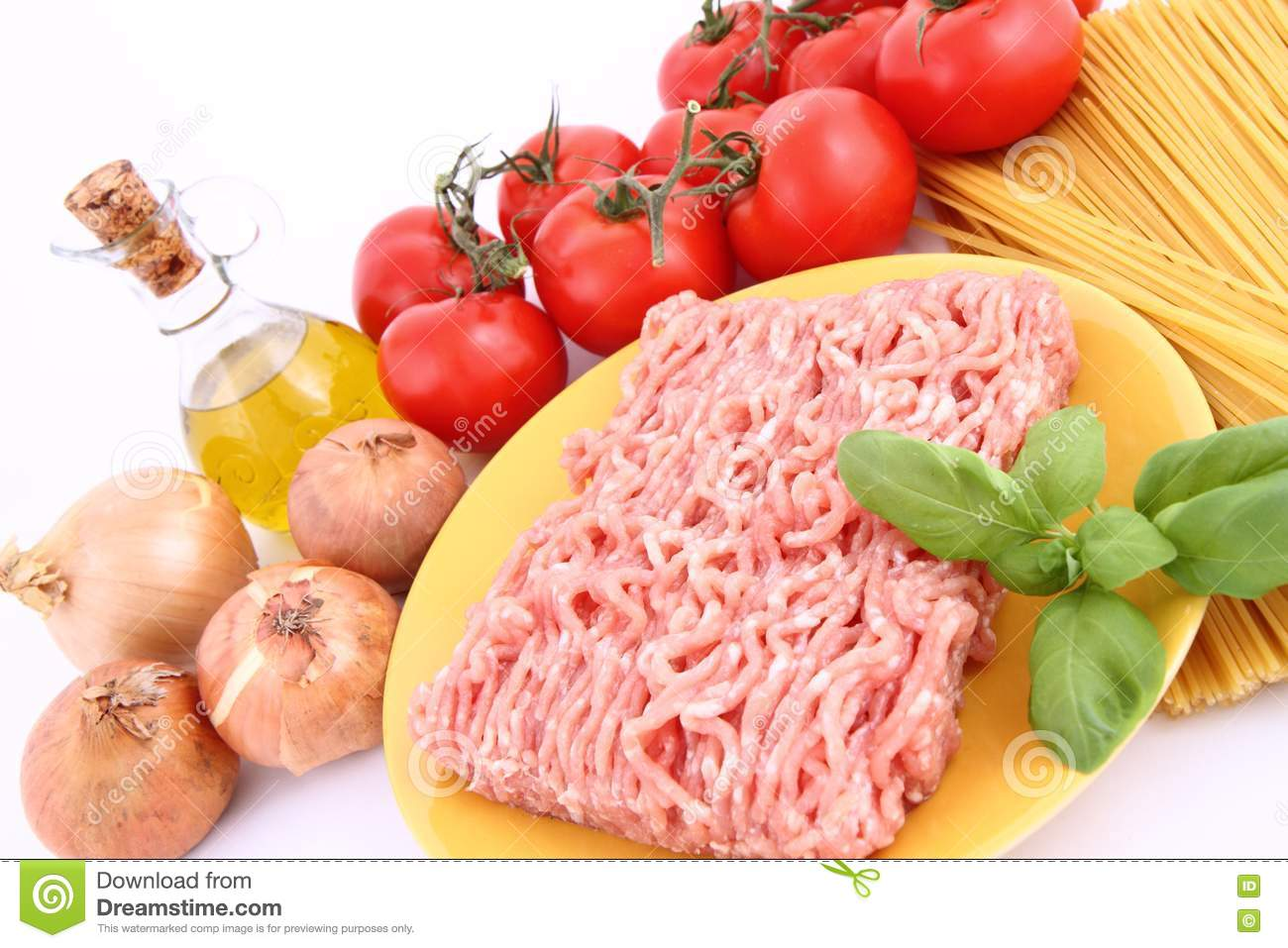 More similar stock images of spaghetti bolognese ingredients