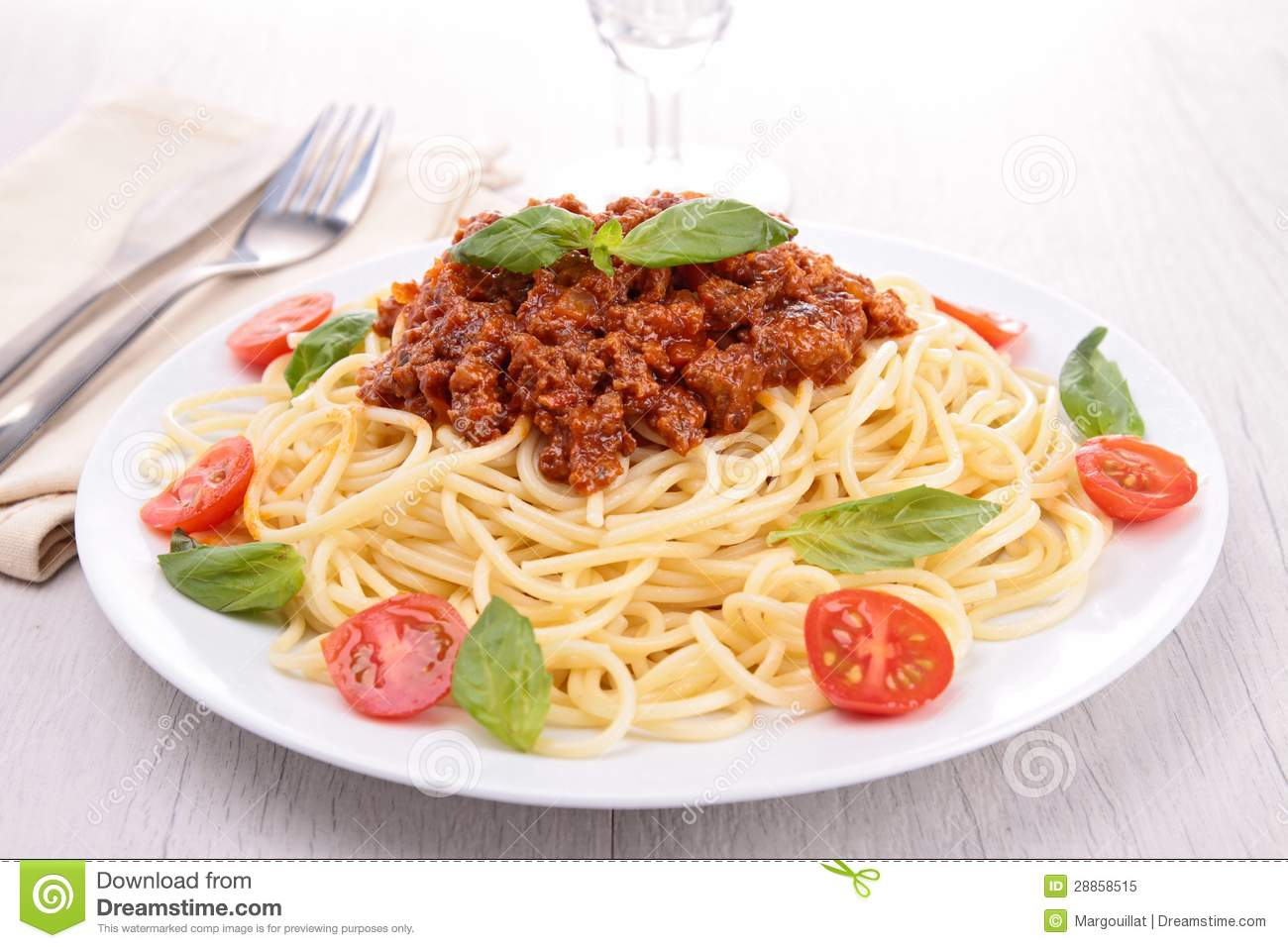 Spaghetti With Bolognese Sauce Royalty Free Stock Photo - Image ...