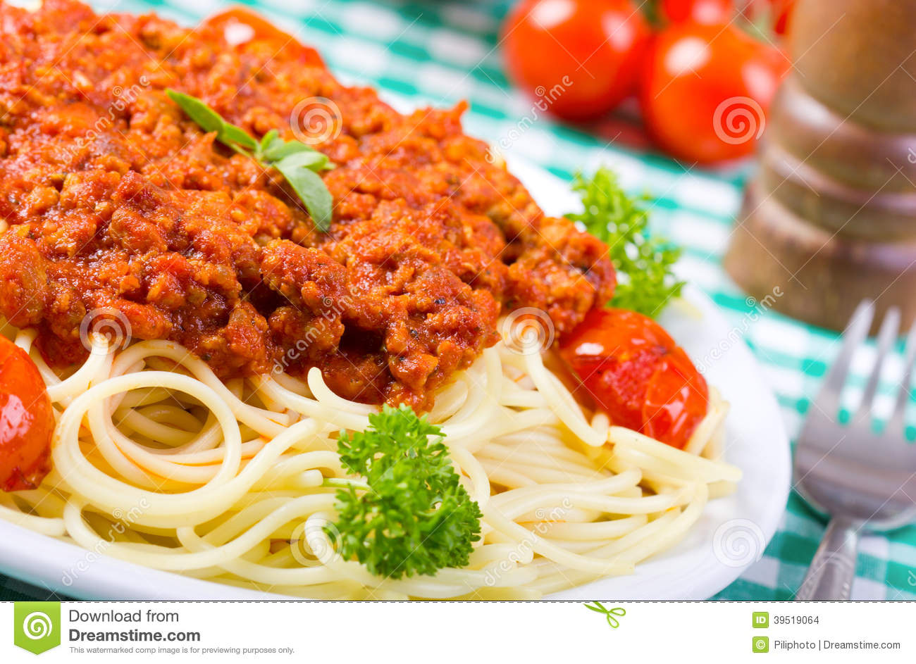 More similar stock images of ` Spaghetti with bolognese sauce `