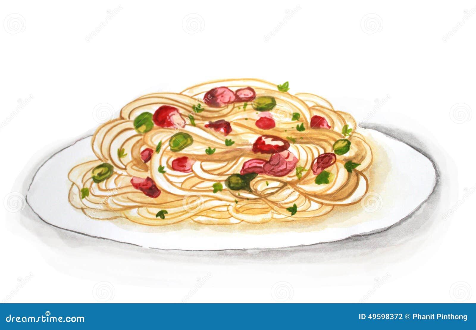 Рисунок макарон
