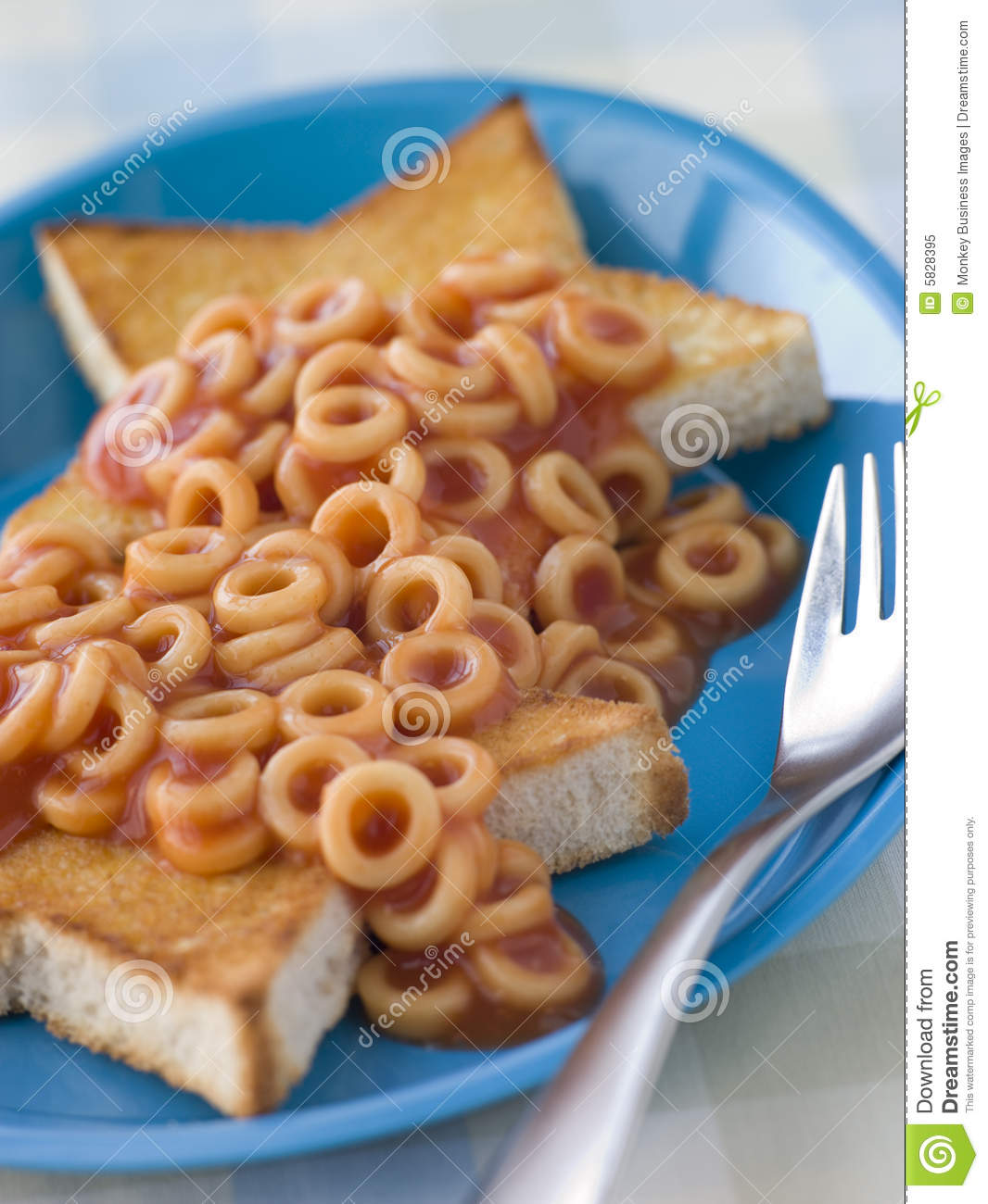 Spaghetti Hoops on Star Shaped Toast