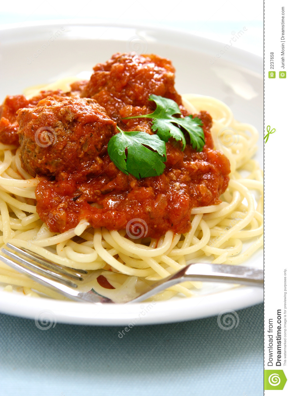 Spaghetti With Meat Ball Royalty Free Stock Photos - Image ...