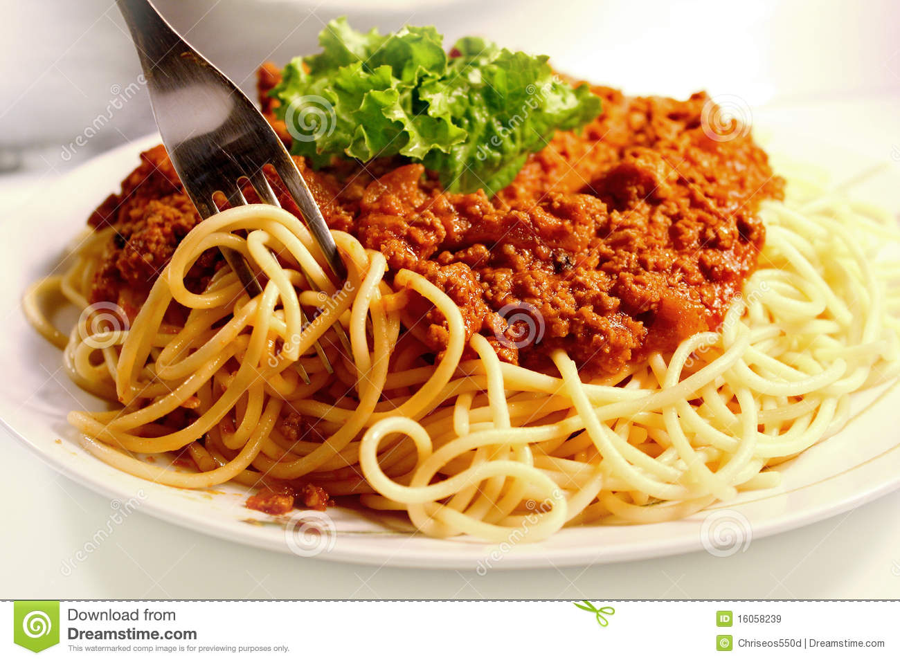 Spaghetti And Meat Sauce Royalty Free Stock Images - Image: 16058239