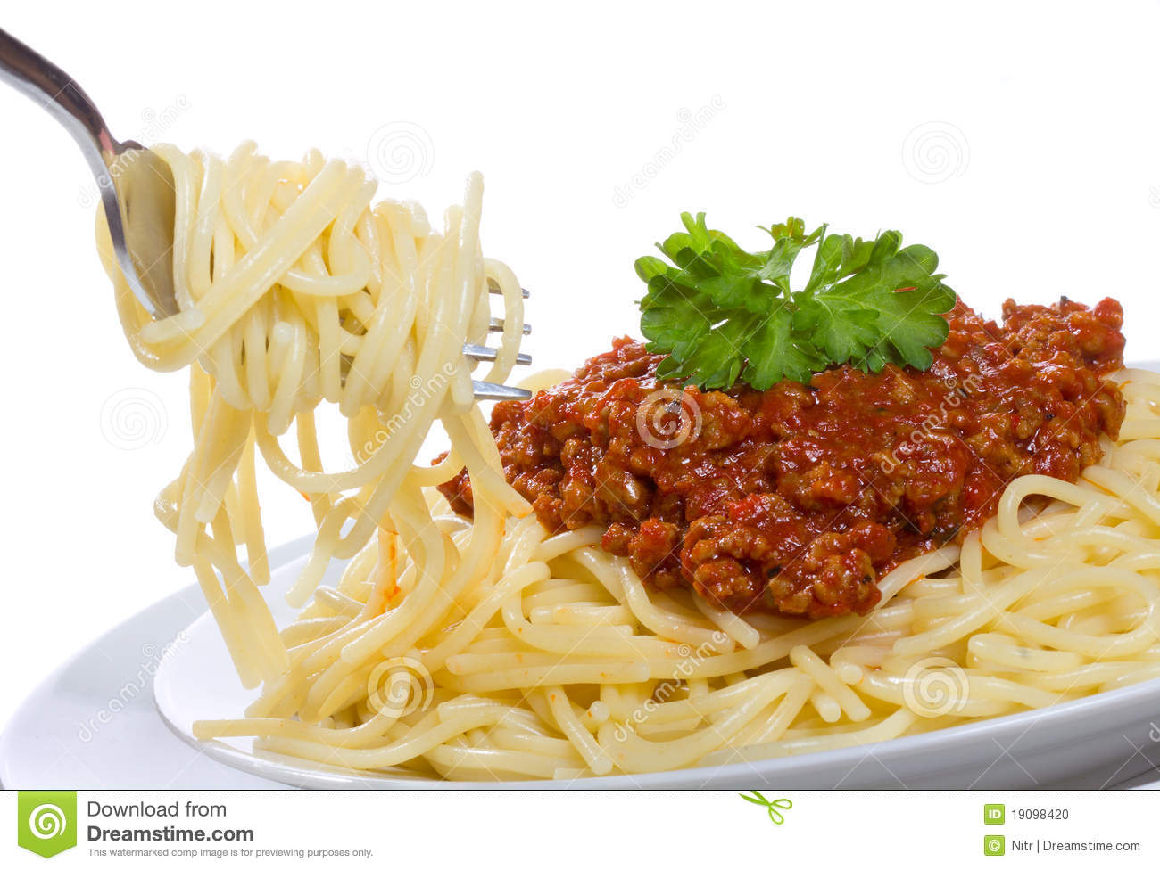 Spaghetti With Meat Sauce Stock Photo - Image: 19098420