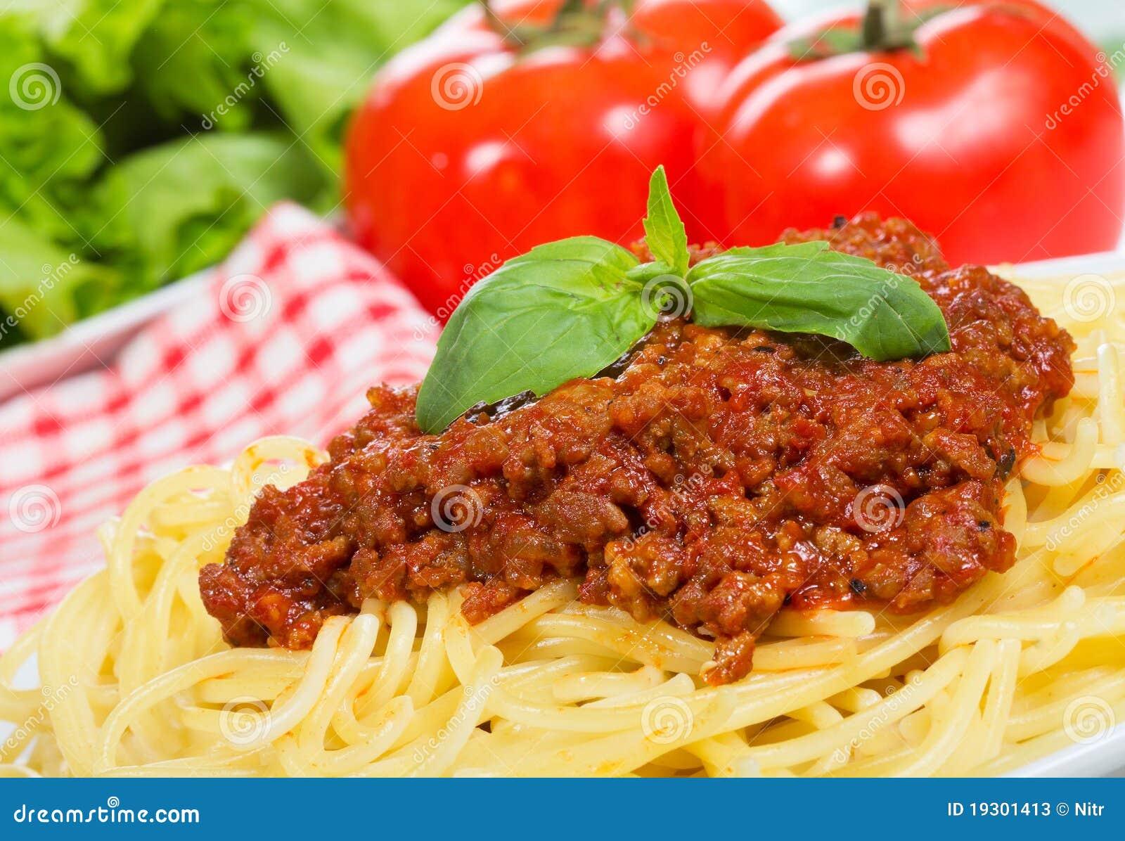 pasta met vleessaus