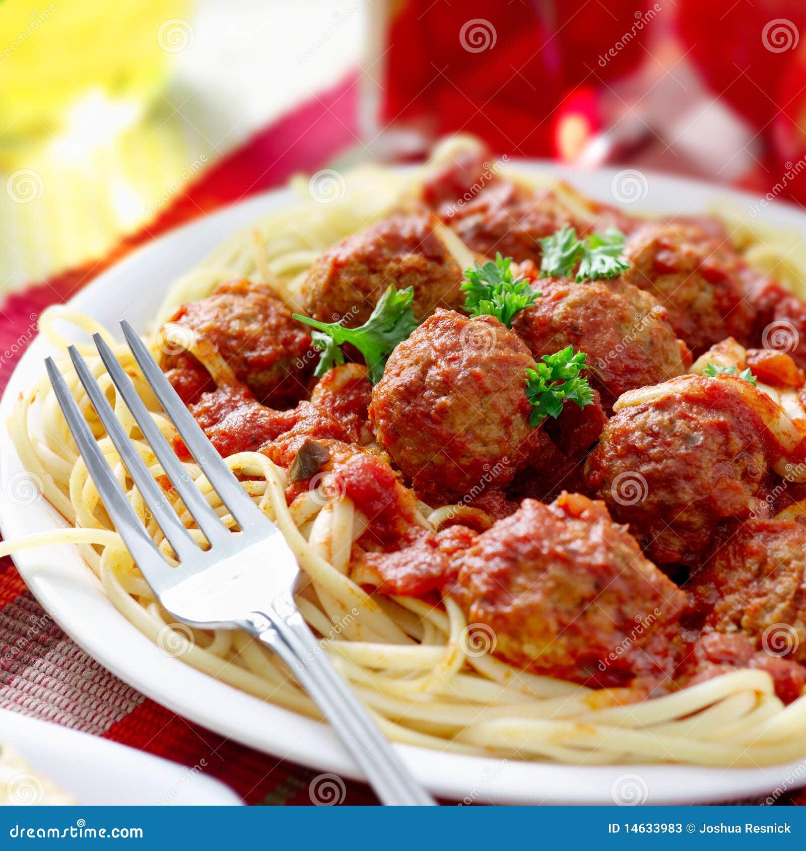 Barefoot Contessa Italian Recipes Spaghetti And Meatball Dinner Stock Image Image Of