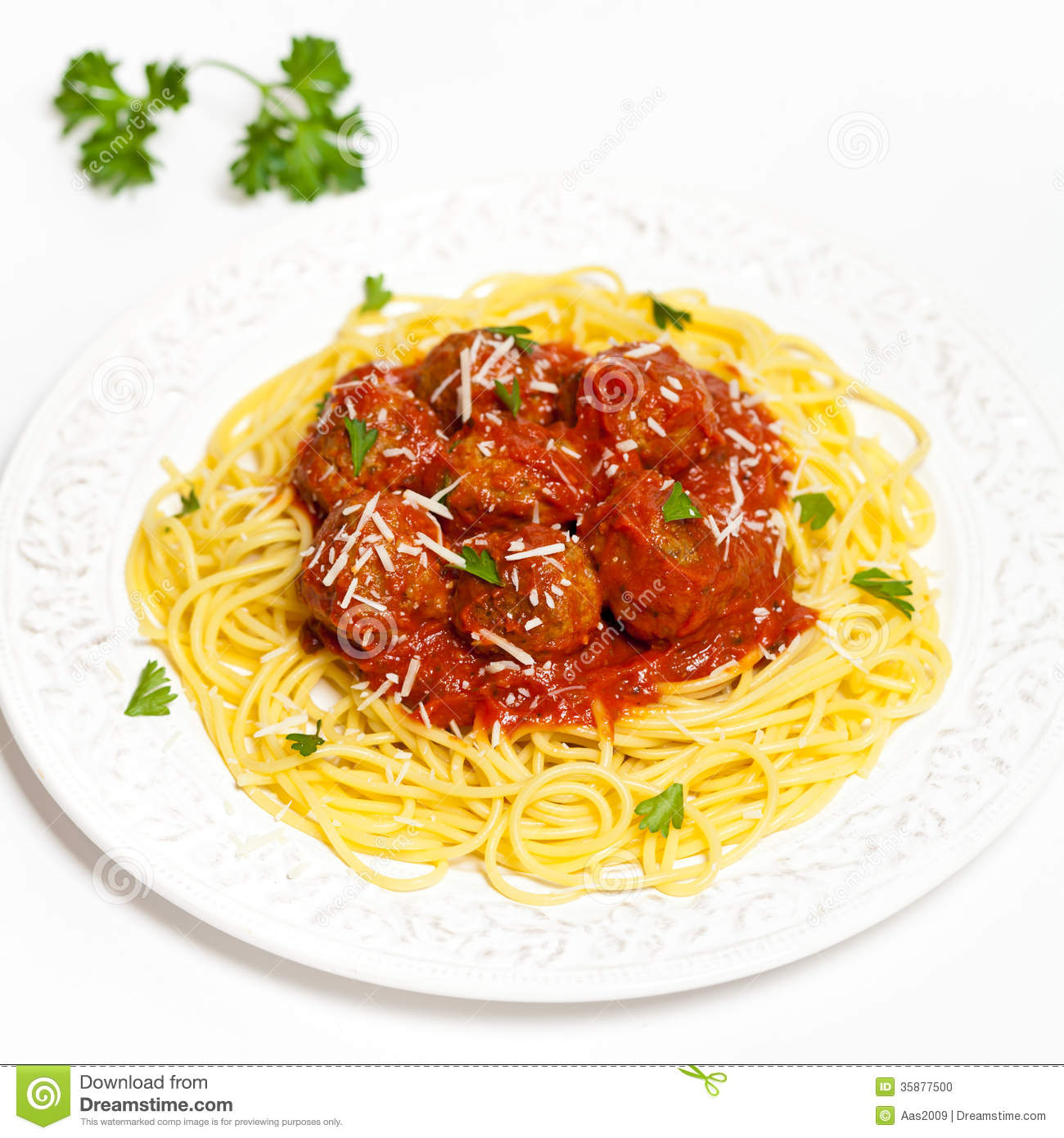 Spaghetti With Meatballs Stock Photo Image Of Lunch